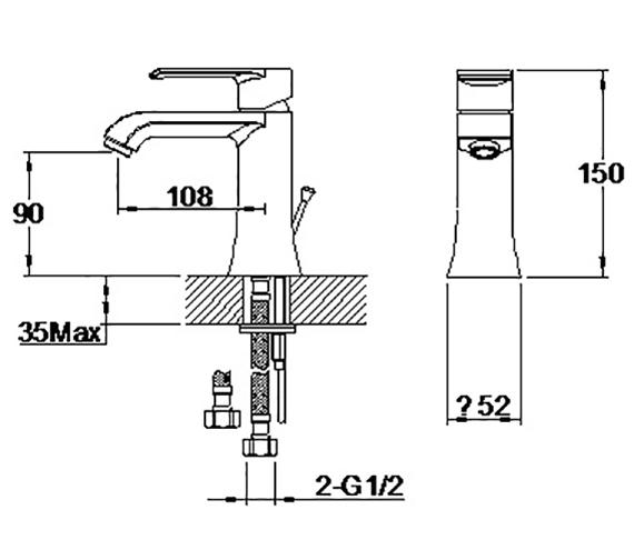 Technical drawing QS-V42642 / S860-0100