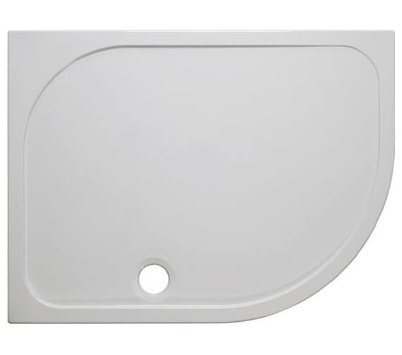 Additional image of Crosswater Simpsons Offset Quadrant 45mm Stone Resin Tray