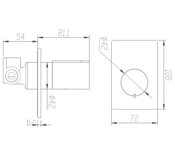 Technical drawing QS-V42628 / BIQ230145GBFG