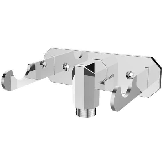 Saneux Cromwell Chrome Outlet Elbow With Handspray Dock