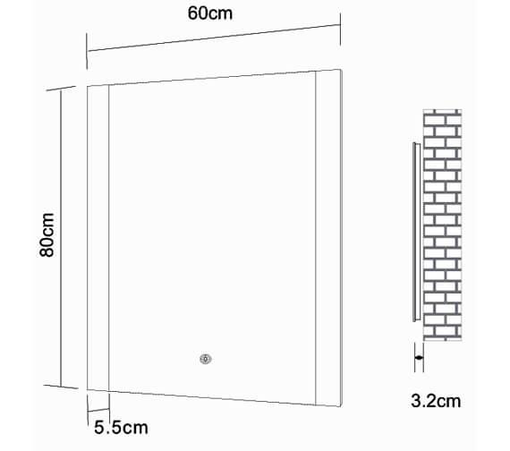 Technical drawing QS-V98520 / BEMBK-01-5X7