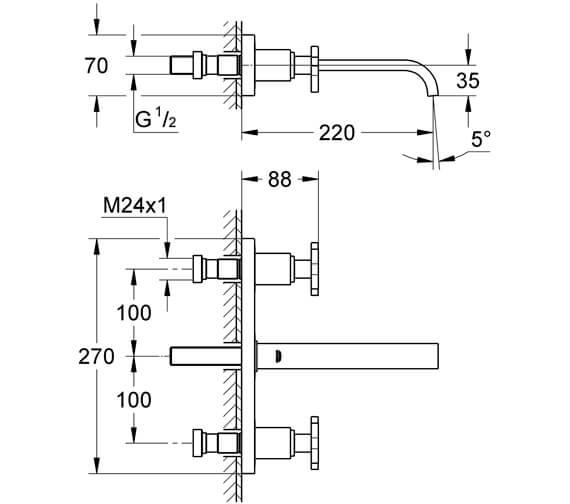 Technical drawing QS-V57770 / 20189000