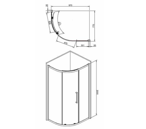 Technical drawing QS-V99555 / IQSSC10X8+