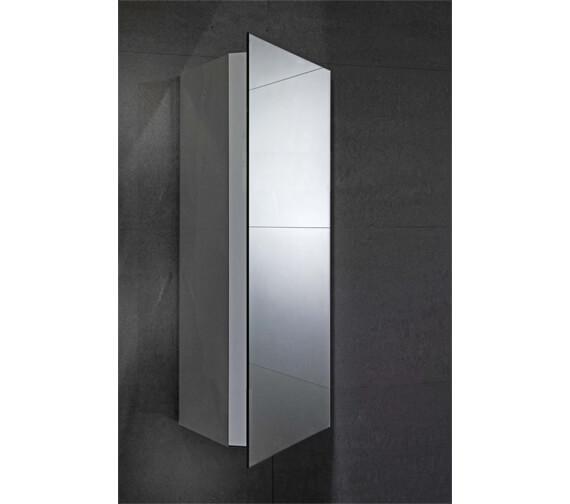 Frontline Alcove 300 x 660mm Mirrored Corner Cabinet