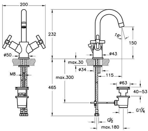 Technical drawing QS-V90543 / A40862VUK