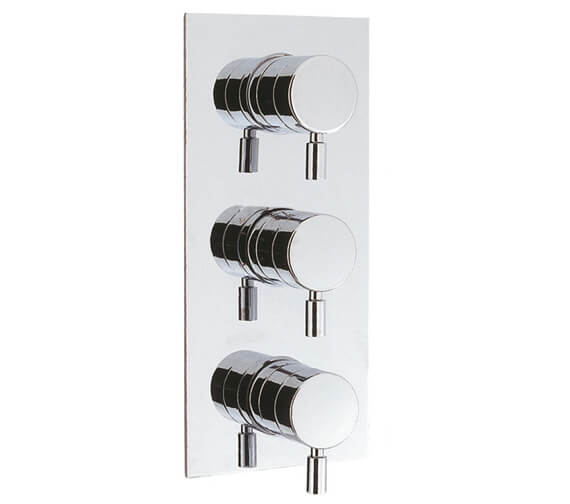 Additional image of Crosswater Design Landscape Thermostatic 3 Way Control Shower Valve