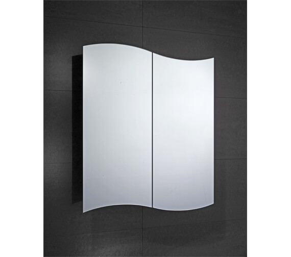 Frontline Tide 600 x 700mm Double Sided Mirrored Cabinet