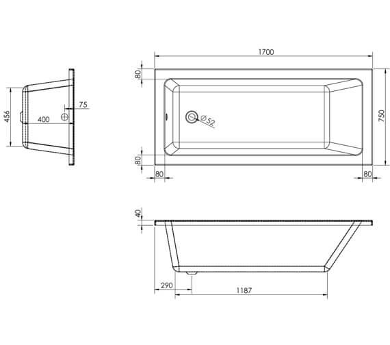 Technical drawing QS-V80484 / 20145
