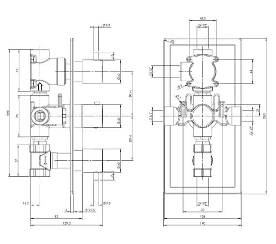 Technical drawing QS-V104307 / KIRI 3DA