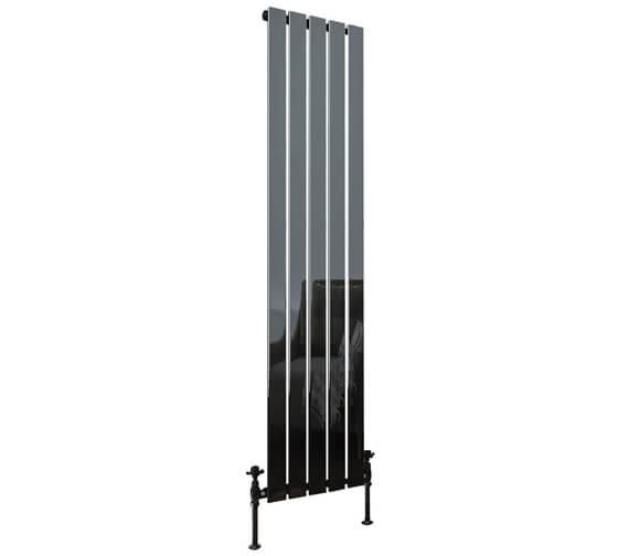 Aqua Verso 1800mm High Black Nickel Steel Designer Radiator