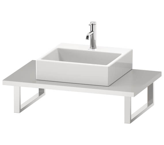 Duravit L-Cube 550mm Depth Console With One Cut-Out