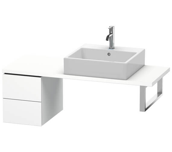 Duravit L-Cube 2 Drawer Compact Low Cabinet For Console