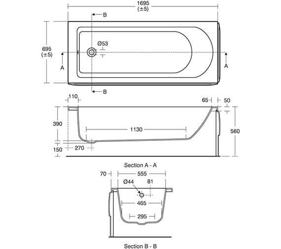 Technical drawing QS-V82482 / T000301