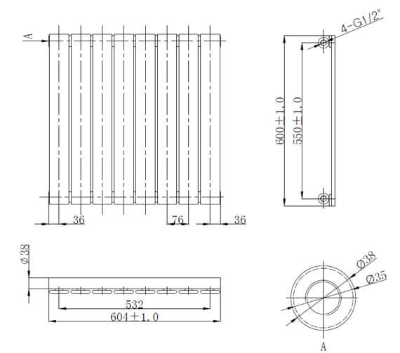 Technical drawing QS-V98540 / LMNRSUNR11-604