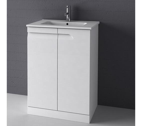 Royo Vitale 600mm 2 Door Floor Standing Vanity Unit With Basin