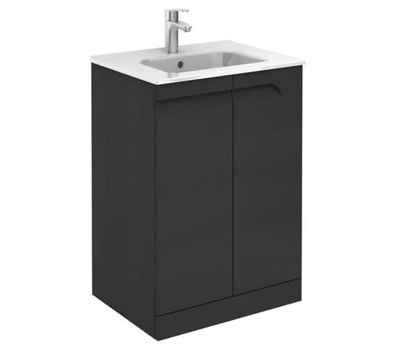 Additional image of Royo Vitale 600mm 2 Door Floor Standing Vanity Unit With Basin