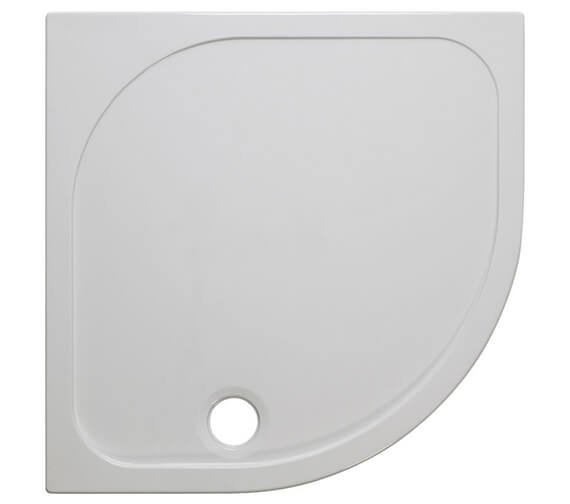 Crosswater Quadrant 45mm Stone Resin Low Level Tray With Waste
