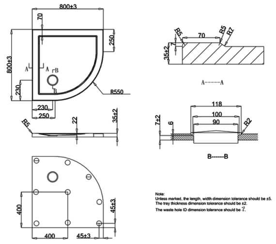 Technical drawing QS-V22733 / ST000Q800