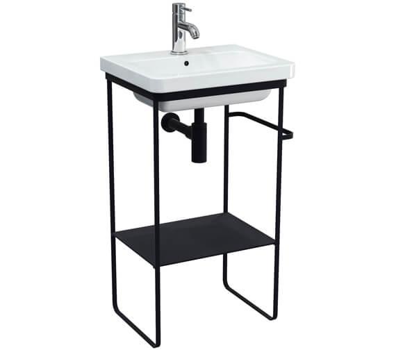 Saneux Volato Matte Black Floor Standing Washstand For Indigo Washbasin