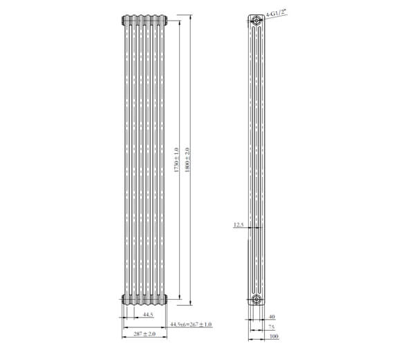 Technical drawing QS-V98545 / LMNRSUNR8-287