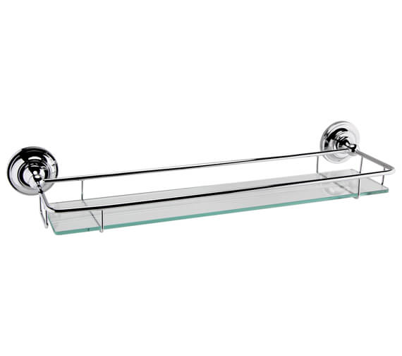 Nuie Traditional Glass Gallery Shelf Chrome