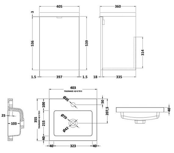 Technical drawing QS-V98041 / CBI239