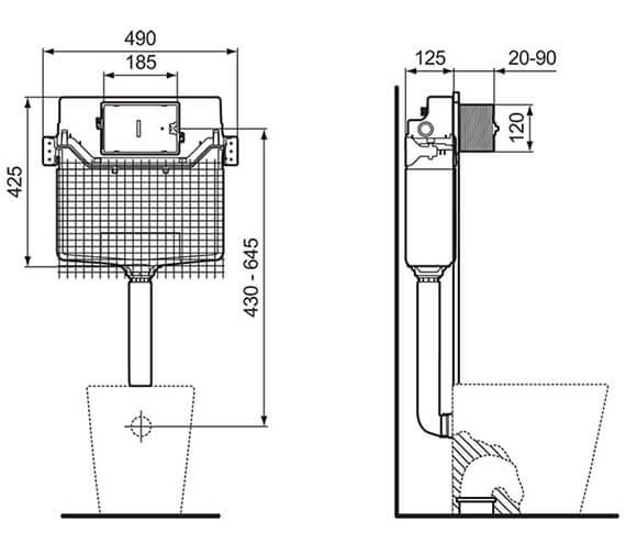 Technical drawing QS-V96467 / R031767
