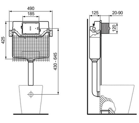 Technical drawing QS-V96469 / R014267