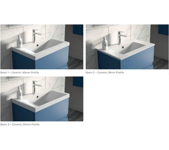 Alternate image of Hudson Reed Urban Floorstanding 2 Door And 1 Drawer Vanity Unit With Basin