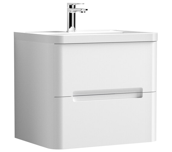 Nuie Elbe 500mm High Wall-Hung Two Drawers Vanity Unit And Basin