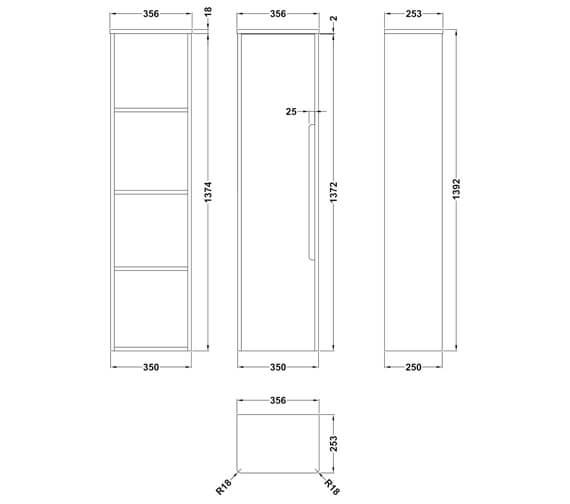 Technical drawing QS-V93974 / PAR162