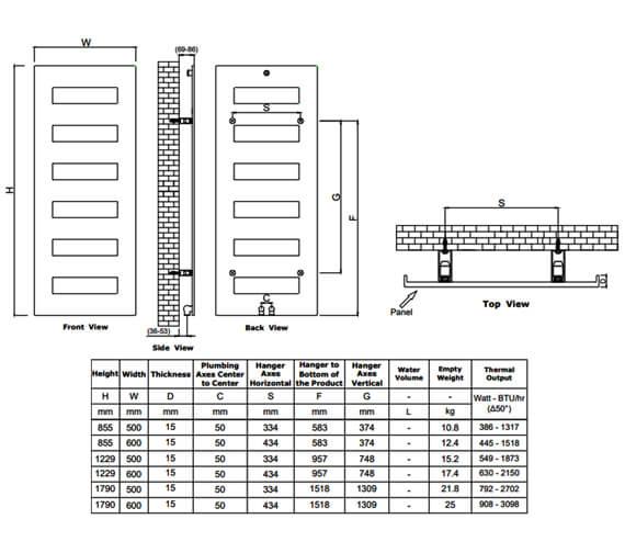 Technical drawing QS-V95296 / RND-FND085050W