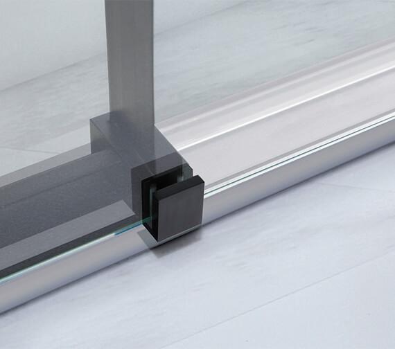 Additional image of Aquaglass Onyx 8mm Black Framed Sliding Door