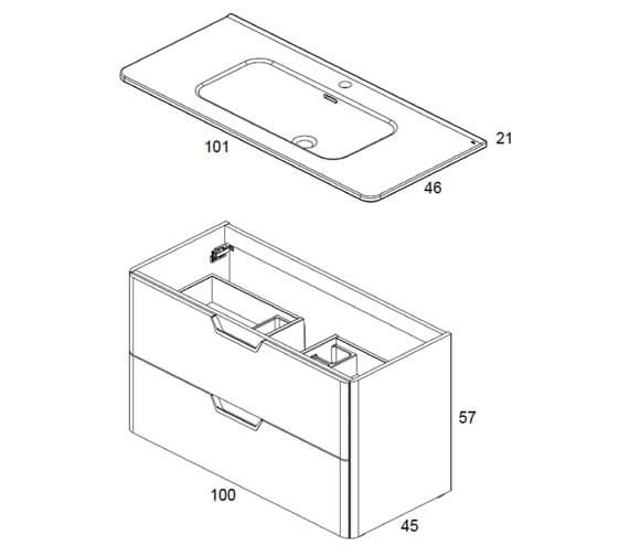 Technical drawing QS-V101415 / RO123877