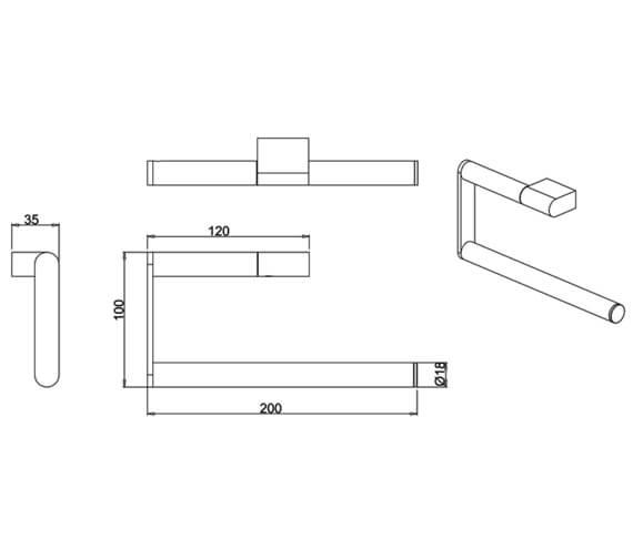 Technical drawing QS-V95697 / PRO013C