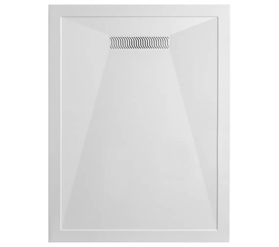 Crosswater Simpsons Rectangular White Tray With Linear Waste