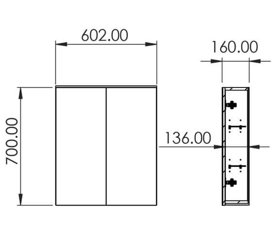 Technical drawing QS-V29545 / AU060C.GW