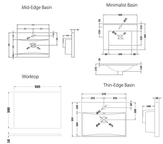 Technical drawing QS-V98182 / URB102W