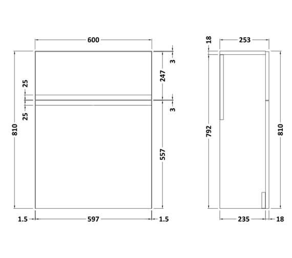 Technical drawing QS-V98183 / URB141