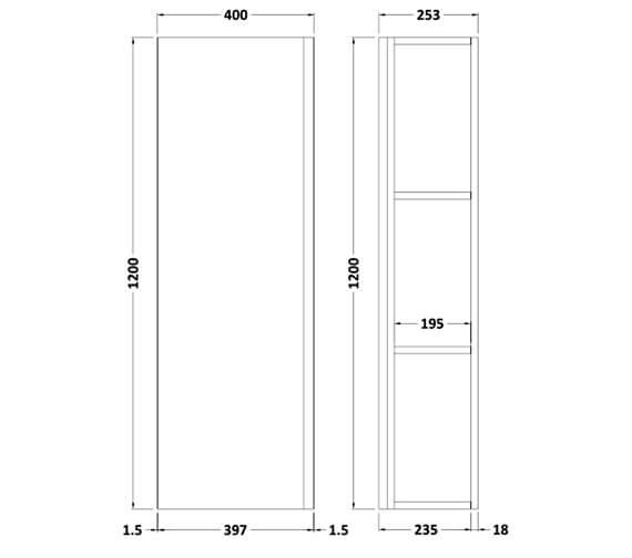 Technical drawing QS-V98184 / URB162