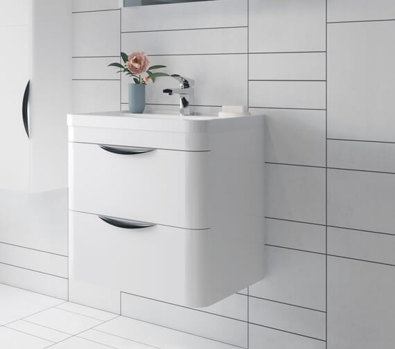 Nuie Parade 500mm High 2 Drawer Wall Hung Cabinet And Basin