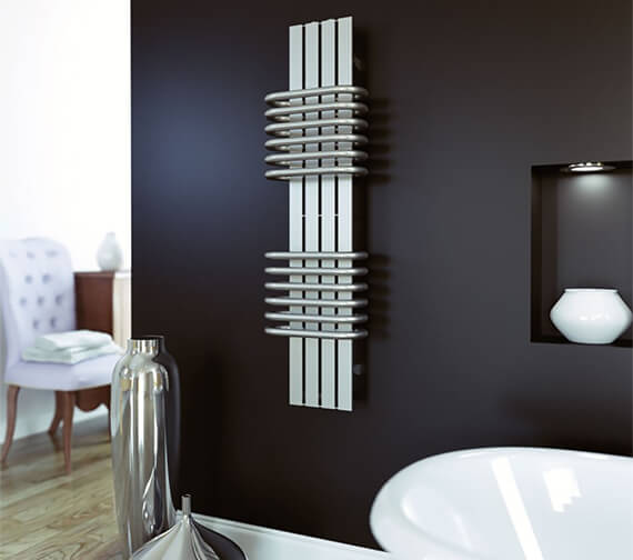 Aeon Bolero 300mm Wide Stainless Steel Designer Radiator