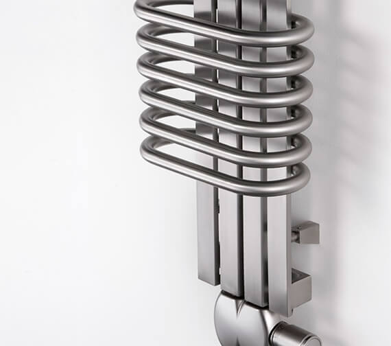 Additional image of Aeon Bolero 300mm Wide Stainless Steel Designer Radiator