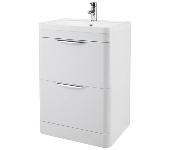 Nuie Parade 800mm High 2 Drawer Floor Standing Cabinet And Basin