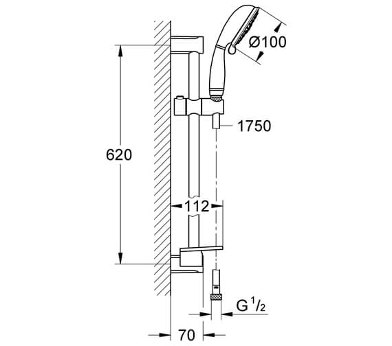 Technical drawing QS-V7430 / 26086001