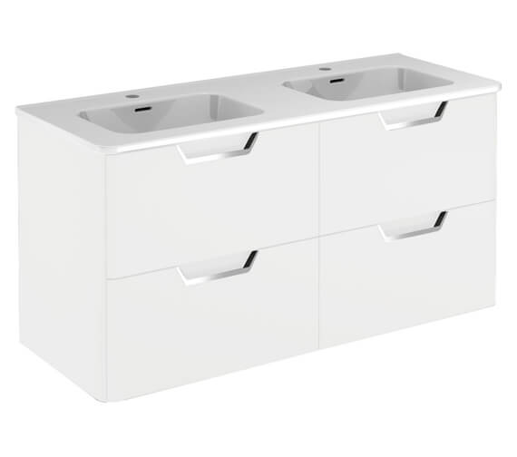 Royo Life 1200mm Wall Hung Furniture Unit With Double Basin