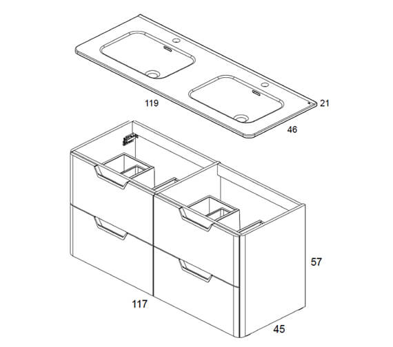 Technical drawing QS-V101416 / RO124770