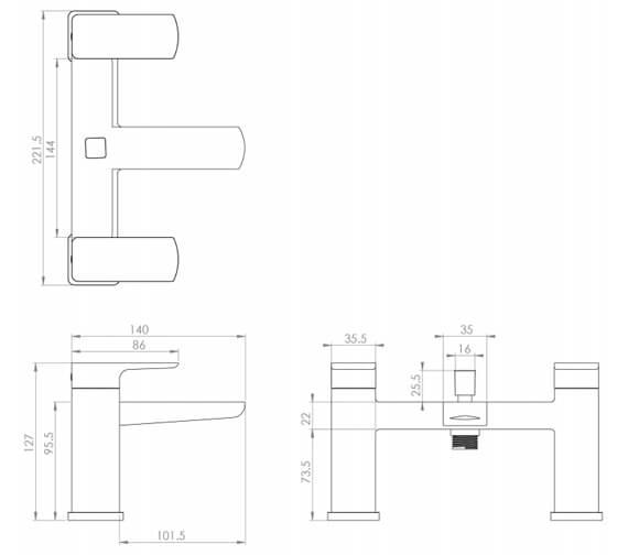 Technical drawing QS-V102020 / FU013