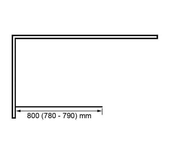 Technical drawing QS-V89585 / BE800913-SMOKED