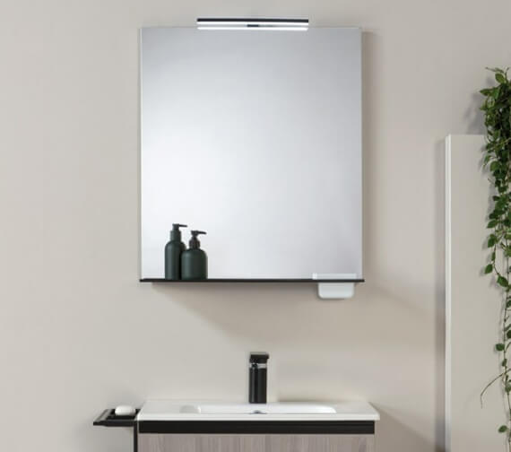 Alternate image of Royo Structure Illuminated Mirror With Shelf And Integrated Storage Case